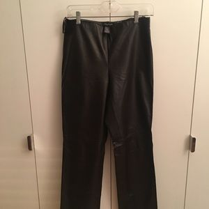 Kenneth Cole Women's Brown Leather Pants